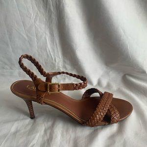 Ralph Lauren Size 8.5B Brown Leather Heels